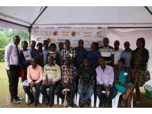 20 NVPF Master Trainers together with Country Director Eddy Balina
