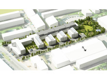 Illustration af den fremtidige bebyggelse