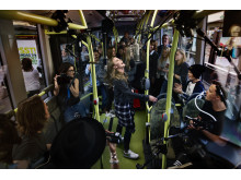 Överraskningskonsert på elbussen