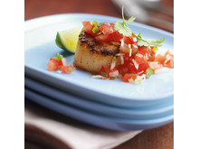Receptbild Grilled Scalops with Pico de Gallo