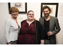 Actress And Prince's Trust Ambassador Samantha Bond, young Ambassador Natalie and Darren Baker.