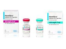 Pressbild, Hemlibra  60 mg / 0.4 ml  och 105 mg / 0.7 ml