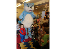 SPECIAL VISIT: Children at Middleton Library getting book smart with Bookstart Bear