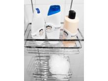 Smart etikett till tvål- & schampoflaskor