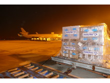 Panalpina flies 70 tons of primary medical care goods, provided by UNICEF, to Burundi.