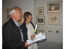 Göran och Lisbeth Olofsson, nöjda besökare på utställningen.