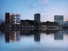 Bild: Fastighet från vattnet.
