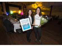 Vinnare av priset Årets Snöflinga 2016: Föreningen Snö & Systerskap. Nancy Bjerregaard och Nina Wertholz