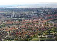 Flygfoto över Malmö, Arkitekturstaden Malmö