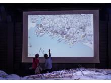 Älvrummet är en plats för dialog och information om den pågående stadsutvecklingen.