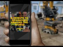 """Engcon hyller nå arbeidet som gravemaskinførere over hele verden utfører, med videoen """"Engcon works"""""""