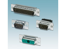 Modular D-SUB connectors for individual applications