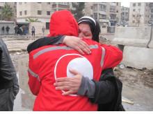 Evakuering i Yarmouk i Syrien