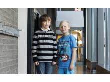 Robert ja Eetu oppivat paljon terveydestä Oulun koulutapahtumassa Sydänviikolla