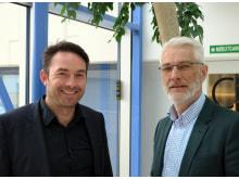 Timm Wold, salgssjef for Prof Print i Canon Norge og Ole-Bengt Moe, daglig leder i Moementum