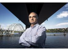 Raid Karoumi, professor på avdelningen för bro- och stålbyggnad vid KTH. Foto: Håkan Lindgren.