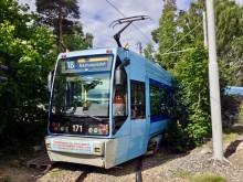 SL-95 Ekebergbanen forstadsbane  i Bråten sløyfe