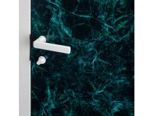Innerdörr med marmoreffekt - VERDE detalj