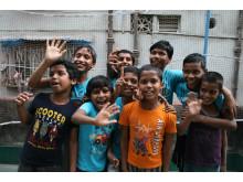 Børn på Open Shelter i Kolkata