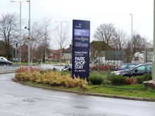 Thornhill park&ride sign (2)