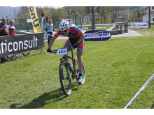 Torjus Bern Hansen i mål til seier under NC 1 Fiskum