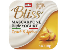 Müller Bliss Mascarpone Style Yogurt Peach & Apricot