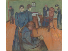 "Edvard Munch, ""Death in the Sickroom"", Prob. 1893."