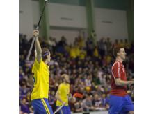 Andreas Dahlqvist jublar efter VM-avancemanget