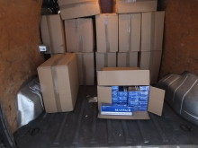 Illegal cigarettes seized from a van