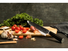 Knives_EGO-VG10_Chef Knife EVG20CK_w_veggies_landscape
