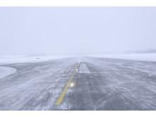 Rullebane med snø