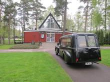 Begravningsmuseet - Rustvogn på kirkegård