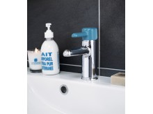 Tvättställblandare från Logic-serien i petroleumblått