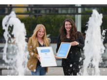 Elevator Pitch der Stiftung für Technologie, Innovation und Forschung Thüringen am 14.06.16 in Erfurt. Im Bild Katrin Senf und Anja Hauer, Upyama GmbH.