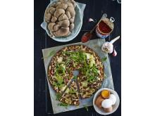 Knäckepizza - Svamp & Fläsk