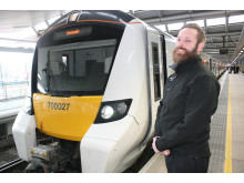 Newly-qualified Thameslink driver Paul Butler at Blackfriars