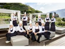 Das Küchenteam des mit 2 Hauben prämierten Dolce Vita Hotel Preidlhof