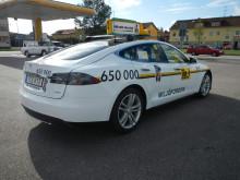 Taxi Göteborgs första Tesla S