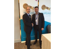 Andy Brogan (SEPT) and Gary Donohue (Fortrus) at the SEPT Nursing Conference 2016