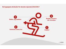 Hyppigste skiskader for danske rejsende