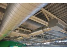 Ventilationsanläggning i MAX IV-laboratoriet i Lund.