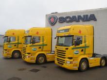 Tre Scania Ecolution til Rynkeby