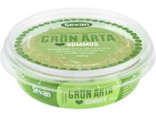 Hummus grön ärta_snett uppifrån