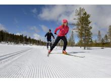 Langrend i Idre Fjäll Nisse Schmidt og Elina Burusjö