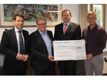 Spende für Hochwasseropfer im Landkreis Rottal-Inn: