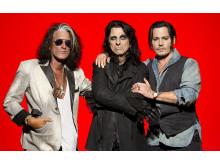 Hollywood Vampire, bestående av Joe Crocker, Alice Cooper & Johnny Depp