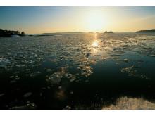 Die Schäreninseln zwischen Schweden und Finnland im Winter