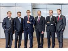 Mieles företagsledning (vänster till höger):