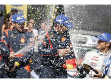 Hyundai Shell World Rally Team celebration