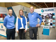 At Elmia Subcontractor Klarvik is presenting its new 3D drawing solution. The company is represented at the fair by production manager Fredrik Karlsson, finance officer Malin Karlsson, and CEO Jerker Blomqvist.